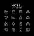set line icons hotel vector image