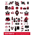 Set of Black Friday sale icons vector image vector image