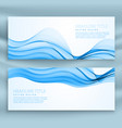 set of blue banners template for business theme vector image vector image