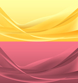 Set of yellou and rose waves vector image vector image