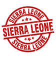 sierra leone red round grunge stamp vector image vector image