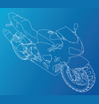 sport motorcycle technical wire-frame vector image