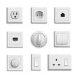 Switches Sockets Realistic Set vector image