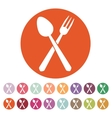 The spoon and fork icon vector image vector image