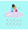 Valentine Boy and girl Love vector image vector image