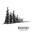 winter forest sketch for your design vector image