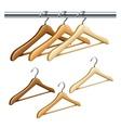 Wooden coat hangers vector image vector image