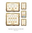 wooden game ui vector image vector image