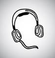 headphones design vector image
