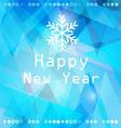 bright winter abstract background with snowflakes vector image