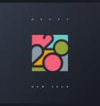 2020 new year multicolored logo