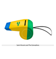 A Whistle of Saint Vincent and The Grenadines vector image