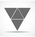 abstract triangles lines geometric shapes vector image vector image