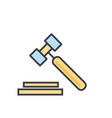 auction hammer justice law legal court vector image