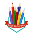 back to school pencil logo vector image vector image