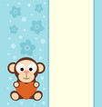 background with funny monkey vector image vector image