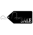 Black label with the word Sale vector image vector image