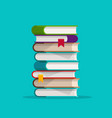 books stack or pile flat vector image