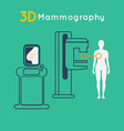 breast cancer 3d mammography vector image