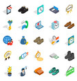 business help icons set isometric style vector image vector image