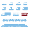 Cars Collection Vehicles in cartoon flat style 2 vector image