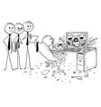 cartoon of businessman drinking smoking and vector image vector image