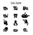 cat icon set graphic design vector image vector image