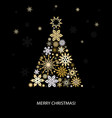 christmas decoration with fir tree vector image vector image