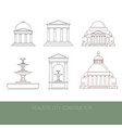 classical architectural collection made in of vector image