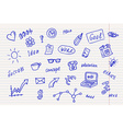 Collection of business doodle sketch objects and vector image