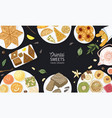 colorful banner template with oriental sweets vector image vector image