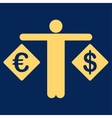 Currency compare icon from Business Bicolor Set vector image vector image