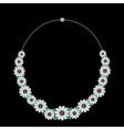 Diamond necklace vector image vector image