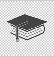 education and book flat icon vector image vector image