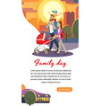 family day cartoon concept happy parents vector image vector image