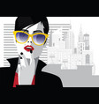 fashion woman in style pop art fashion vector image vector image