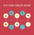 flat icons policeman keypad walkie-talkie and vector image vector image
