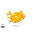 geometric polygonal style map of iceland low poly vector image