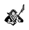 girl patriot lacrosse player mascot vector image vector image