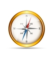 Glossy Gold Compass vector image