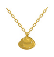 Gold shit necklace decoration on chain Turd vector image vector image