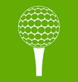 golf ball on a tee icon green vector image vector image