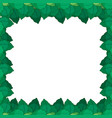green leafe nature frame vector image