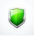 green shield icon vector image vector image