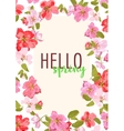 Hello spring Sakura flowers Design for vector image