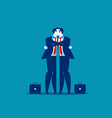 hug businessman giving a hug men consolation vector image