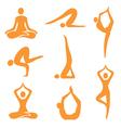 Icons yoga asanas vector image vector image