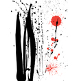Ink and blood splashes vector image vector image