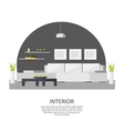 Interior Design Template vector image vector image
