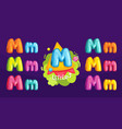 letter m vector image vector image